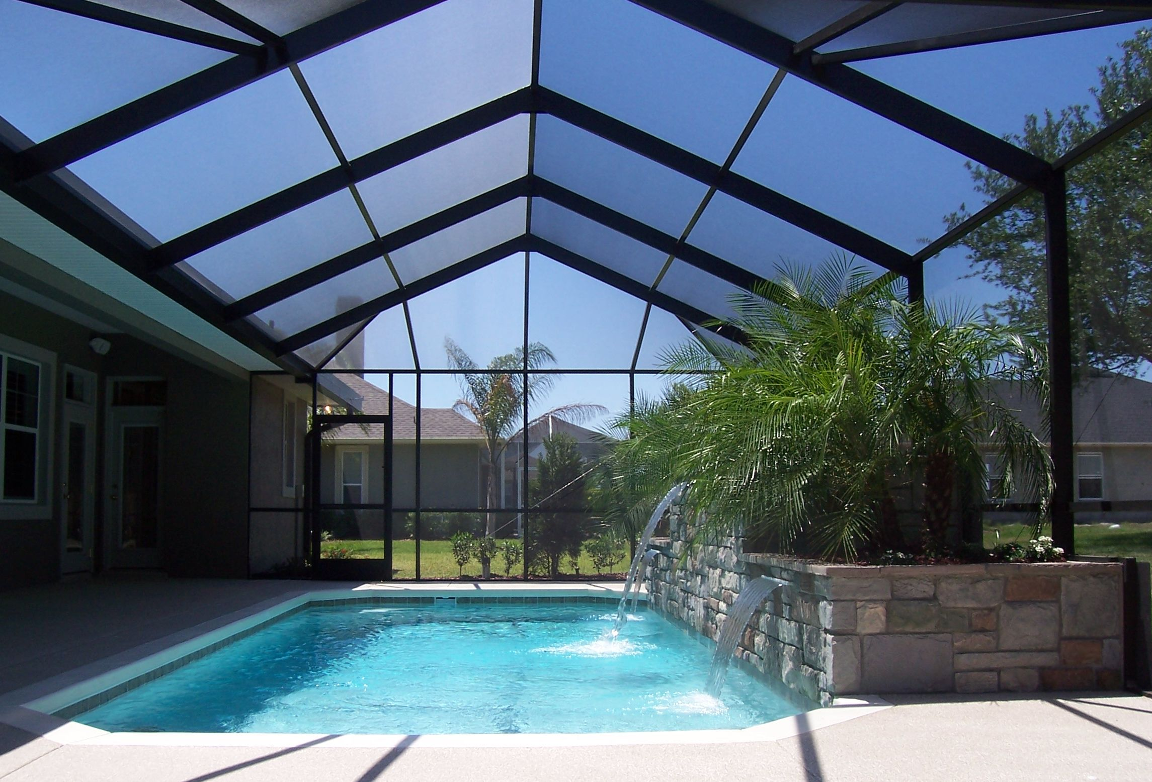 Winter haven lakeland pool enclosures pool screen for Inground pool enclosure prices